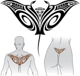 Maori Manta tattoo design