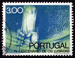 Postage stamp Portugal 1972 Hand Saving Manuscript
