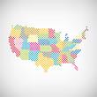 Bundesländer USA Karte punktiert
