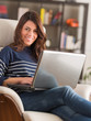Young Woman Sitting Using Laptop