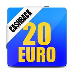 button eckig 20 euro cashback I