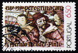 Postage stamp Portugal 1980 Mendes Pinto and Chinese Men
