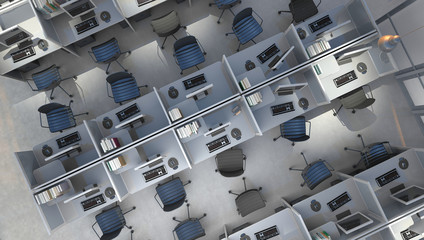 office interior top view