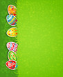 Easter festive background and egg in grass
