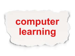 Education concept: Computer Learning on  background