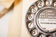 Fifties British vintage ivory telephone - macro dial detail