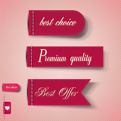 Set of Red Superior Quality and Satisfaction Guarantee Ribbons,