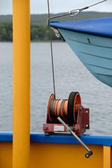 Rettungsboot mit Winde