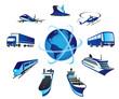 Passenger and cargo transportations around the world