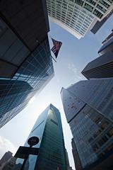 Corporate buildings in Manhattan