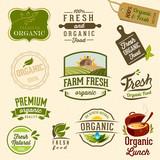Fototapety Set of Fresh Organic labels and elements