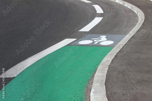Signalisation horizontale de piste cyclable