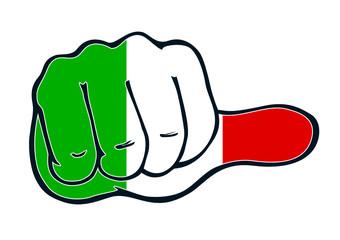 Daumen neutral Italien