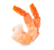 Leinwandbild Motiv Shrimps. Prawns isolated on a White Background. Seafood