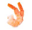 Leinwanddruck Bild - Shrimps. Prawns isolated on a White Background. Seafood