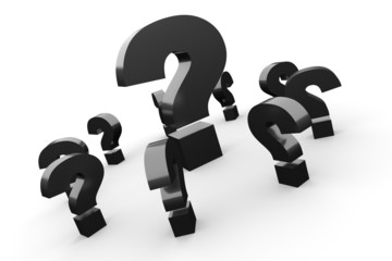 Fragen über Fragen Konzept - Schwarz 2