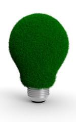 Lampadina verde energia pulita