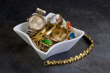 Scrap Gold and Jewelry.