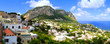 Panoramic aerial view over the island of Capri, Italy