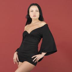 Studio shot of woman posing