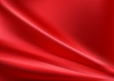 Red silk background with some soft folds