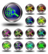World web search glossy icons, crazy colors