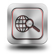 World web search aluminum glossy icon