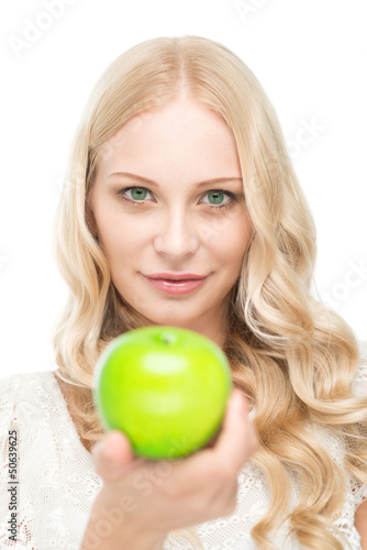 Take this apple!