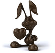 Fun chocolate rabbit