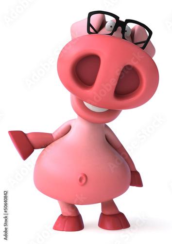 Poster Boerderij Fun pig
