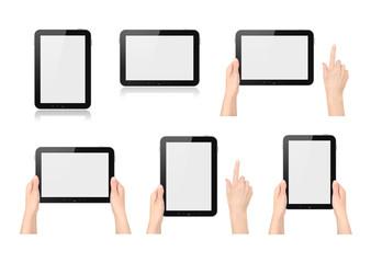Set of digital tablets