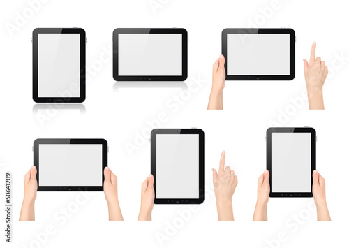 Set of digital tablets