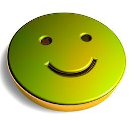 3D Goldzeichen - Smiley I
