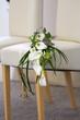 canvas print picture - Brautstrauß aus Callas auf Stuhl