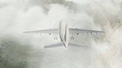 airplane flight over taif city