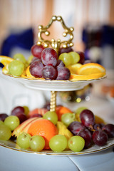 Fruits at banquet table
