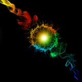 Bunter Rauch und Licht - Colorful Smoke And Light