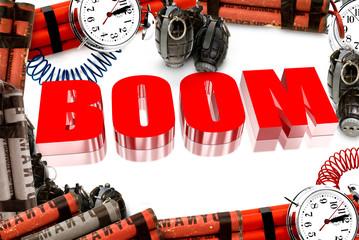 Three dimensional red boom