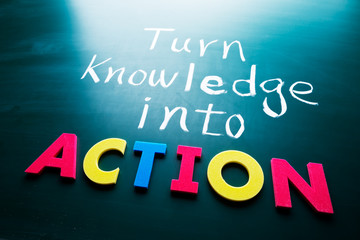 Turn knowledge into action