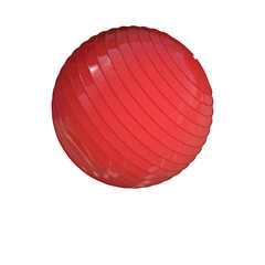 Pilates Ball Red - exercise ball - 3D Render