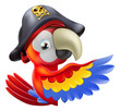 Parrot pirate pointing
