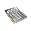 Electronic calculator on white background. Vector.