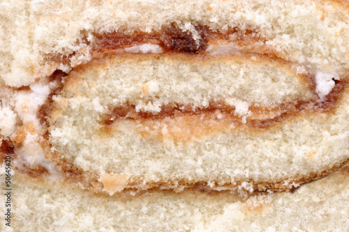 Close up of a swiss roll