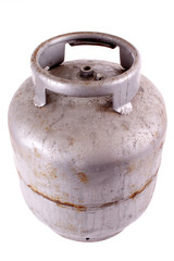 Rusty butane gas tank
