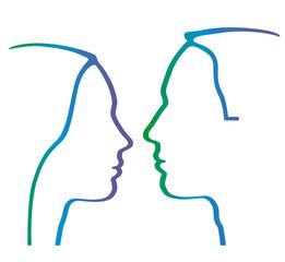 Paar im Profil