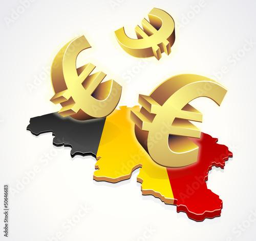 Mouvement d'euros en Belgique