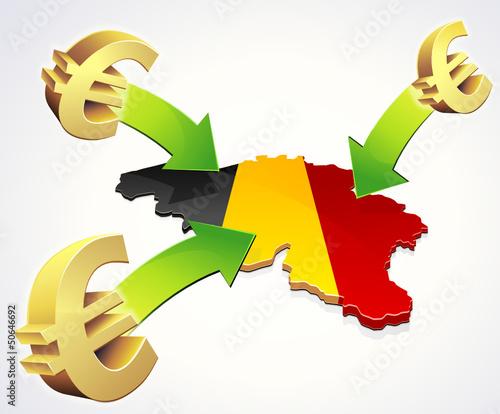 Arrivée d'Euros en Belgique