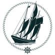 Segelschiff Zeichen