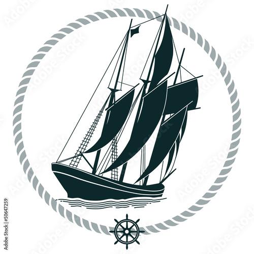 Segelschiff Zeichen © scusi