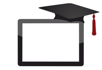 empty tablet computer - graduation